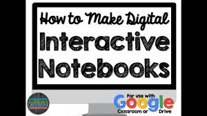 How to Make a Digital Interactive Notebook (Google Classroom ...