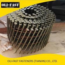 china bright coil nail shank or