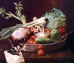 William Merritt Chase Still Life With Vegetables Wall Decal Farmhouse Wall Decals By Art Megamart
