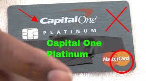 capital one platinum mastercard credit