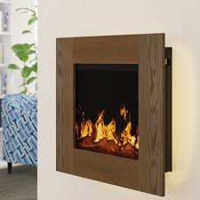 backlit wall mounted electric fireplace