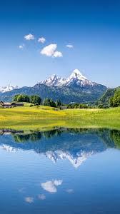 wallpaper summer mountains lake alps