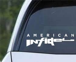 American Infidel Ar15 Pro Gun Rights Patriot Die Cut Vinyl Decal Sticker Decals City