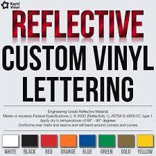 Custom Reflective Vinyl Lettering Decal Sticker Car Van Truck Trailer Banner Ebay