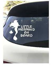 Little Mermaid On Board White Vinyl 7 Vehicle Car Laptop Decal Ariel Ebay