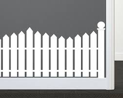Picket Fence Decal Etsy