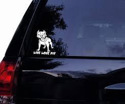 Live Love Pit Pitbull Pit Bull Bully Pit Mom Dog Vinyl Car Etsy