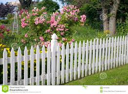 Garden Picket Fence Stock Photo Image Of Blue Picket 59723830