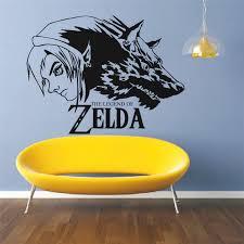 Triforce Zelda Wall Mural Vinyl Decal Sticker Decor Warrior Sword