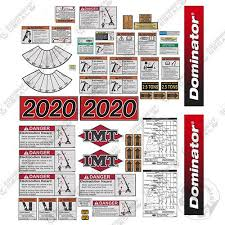 Imt Crane Truck 2020 Dominator Series Full Safety Decal Kit With Logos Equipment Decals