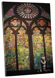 stained glass cathedral canvas wall art