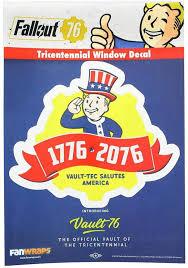 Amazon Com Fallout 76 Tricentennial Logo Window Decal