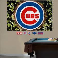 Fathead Mlb Chicago Cubs Ivy Logo Wall Graphic Bed Bath Beyond