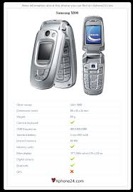 Samsung X800 SGH-X800 To your site ...