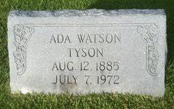 Ada Watson Tyson (1885-1972) - Find A Grave Memorial