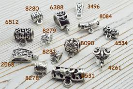 50pcs antique silver plated pendant