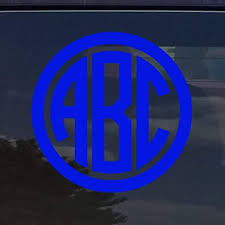Amazon Com Custom Circle Monogram Initials Vinyl Decal Sticker Cars Yeti Cup Laptop Phone 3 Royal Blue Home Kitchen