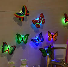 Led 3d Butterfly Wall Lights 10 Pieces Butterfly Wall Stickers Wall Stickers Home Decor 3d Butterfly Wall