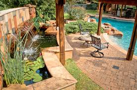 outdoor patio water feature