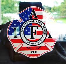 Inside Window Mount Iaff Firefighter Decal 3 7 Sticker Red Black 0325