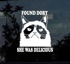 Finding Dory Grumpy Cat Window Decal Sticker Custom Sticker Shop