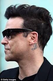 Robbie Williams 'B' for Betty in memory of his Nan