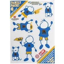 Ucla Bruins 5x7 Small Family Decal Set At Sticker Shoppe