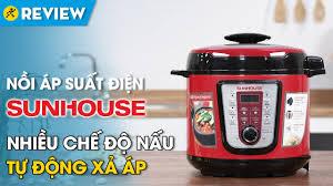 Nồi áp suất điện Sunhouse 6 lít: tự động xả áp, chế độ nấu đa năng ...