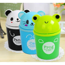 Cute Animal Room Trash Can Assorted Colours
