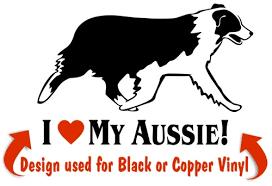 Australian Shepherd Window Decal Nickerstickers