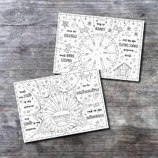 2 Placemats Kerst Download Kleurversjes Nl