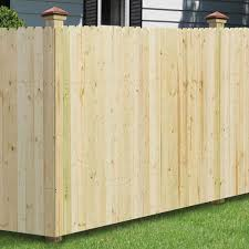 Unbranded 6 Ft X 8 Ft Pressure Treated Pine 4 In Dog Ear Fence Panel 102580 The Home Depot