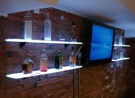 lighted back bar shelves great for