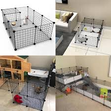 6pcs 8pcs 35x35cm Pet Fence Cages Iron Pet Fences For Small Dogs Pet Dog Crates Folding Metal Dog Crate Cage For Dogs Cat Rabbit Lazada Ph