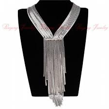 Women Evening Dress Hlidays Fashion Jewelry Bubble Chains Neck Bib Col