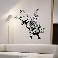 Bull Riding Wall Decal Sticker Art Decor Bedroom Design Mural Etsy Sticker Art Music Wall Decal Bull Riding