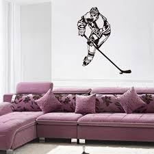 Hockey Wall Sticker Decal Stickers And Mural For Nursery Kids Room Sport Wall Art For Home Decor Ice Hockey Player Silhouette Mural Buy Wall Decal Buy Wall Decals From Rita0615 4 94 Dhgate Com