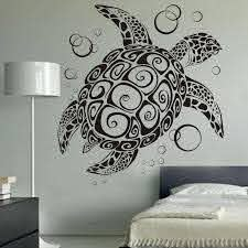 Sea Turtle With Bubbles Uber Decals Home Decoration Tortoise Wall Decor 3d Wall Decal Art Stickers Removable Mural 60 H X 55 W Sticker Remover 3d Wall Decalsdecoration 3d Aliexpress
