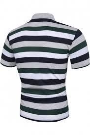 mens trendy green striped printed short