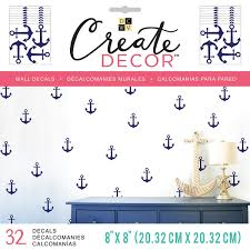 Shop Dcwv Create Decor Removable Wall Decals 8 X8 Blue Anchors 8 Sheets Overstock 18453976