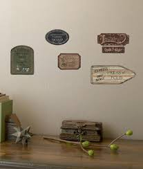 Laundry Signs On Weathered Wood Planks Accent Wall Decal Wallpaper Mural Art Com