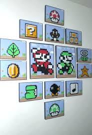 blocks nintendo wall art super light up