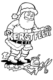 Kleurplaat Kerstmis De Kerstman Kerstmis De Kerstman Kerstmis