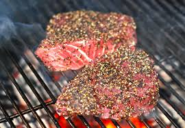 Seared Peppercorn Encrusted Tuna Steaks ...