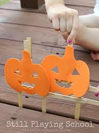 Five Little Pumpkins Fine Motor Activity Still Playing School