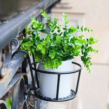 Outdoor Fence Storage Flower Pot Home Office Garden Decoration For Plants Hanging Basket Shopee Philippines