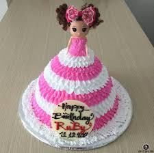 Bánh sinh nhật búp bê barbie cùng chiếc đầm nhiều tầng kiêu sa ...