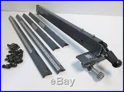 Sears Craftsman Micro Adjust Style Rip Fence Long Guide Rails 10 Table Saws Table Saw Fence