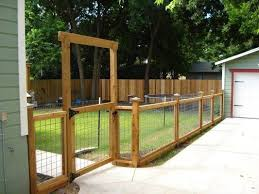 Cheap Dog Fence Ideas Bing Images Backyard Fences Wire And Wood Fence Backyard