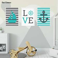 Nordic Style Kids Decoration Kids Room Sea Marin Ocean Posters And Prints Wall Picture For Living Room Wall Art Canvas Print Picture For Living Room Wall Picturesocean Poster Aliexpress